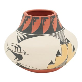 Zia Pottery Bowl by Yvonne Shije Grayson For Sale