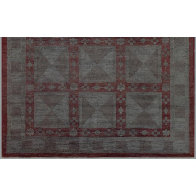 Over Dyed Color Reform Loni Lt. Gray Wool Rug - 7'9 X 9'11 A3357 For Sale In New York - Image 6 of 7