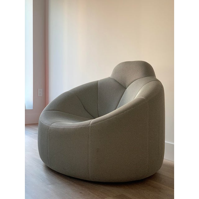 2000 - 2009 Ligne Roset Pumpkin Armchair in Techno Silver by Pierre Paulin For Sale - Image 5 of 9