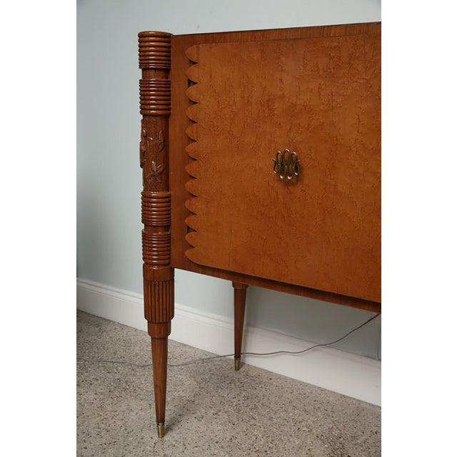 Brown Italian Burled Birch Sideboard, Pier Luigi Colli For Sale - Image 8 of 9