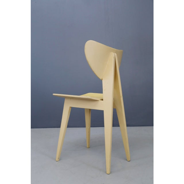 Set of Chair MidCentury Attributed to Gianni Vigorelli in Wood and Formica, 1950 For Sale - Image 4 of 8