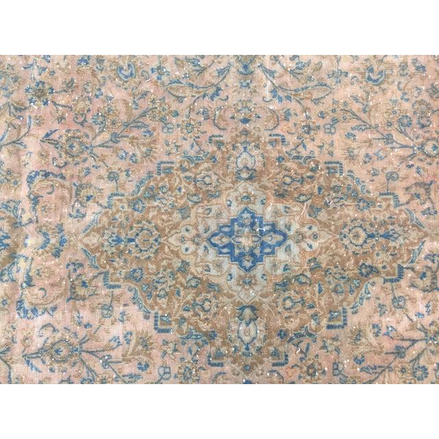 Blue Vintage Antique Handmade Oversize Tribal Persian Rug - 9′10″ × 12′1″ For Sale - Image 8 of 12