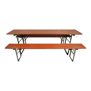 Painted Picnic Table and Benches For Sale