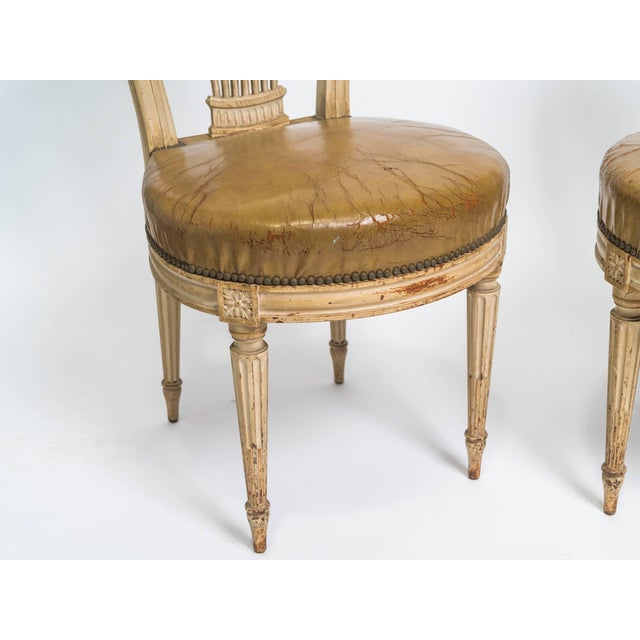French 1920s Vintage French Hot Air Balloon Side Chairs- a Pair For Sale - Image 3 of 8