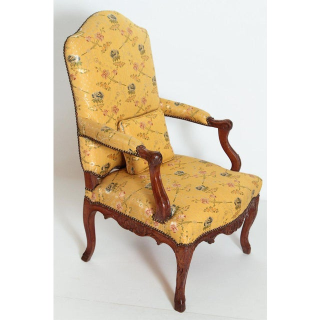 Hollywood Regency A Early 18th Century Walnut Regence Armchair For Sale - Image 3 of 13
