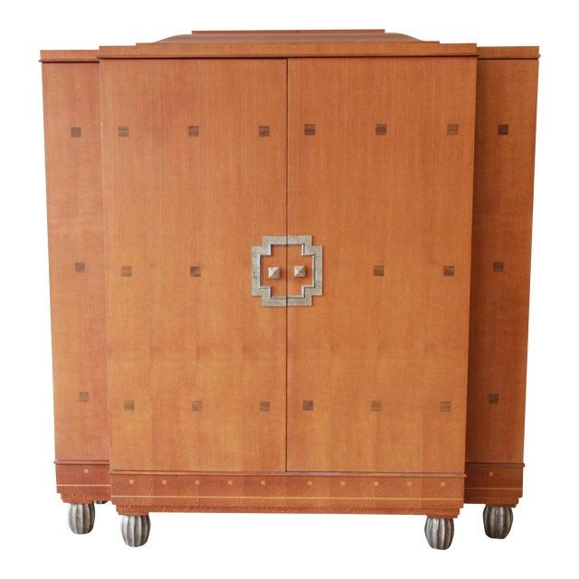 Baker Furniture Art Deco Style Burlwood Armoire - Image 1 of 11