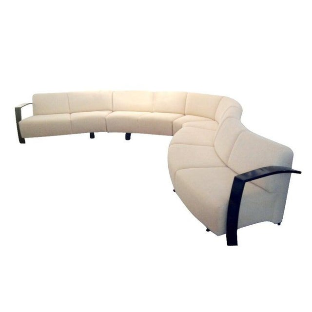 A mid-century modern sectional sofa by Thonet measuring twenty-one feet long. Four separate sections providing for...