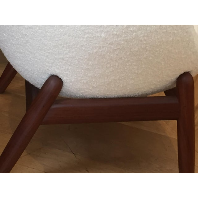 "White Mid-Century Ib Kofod-Larsen ""Pot"" Chairs- a Pair For Sale - Image 8 of 10"