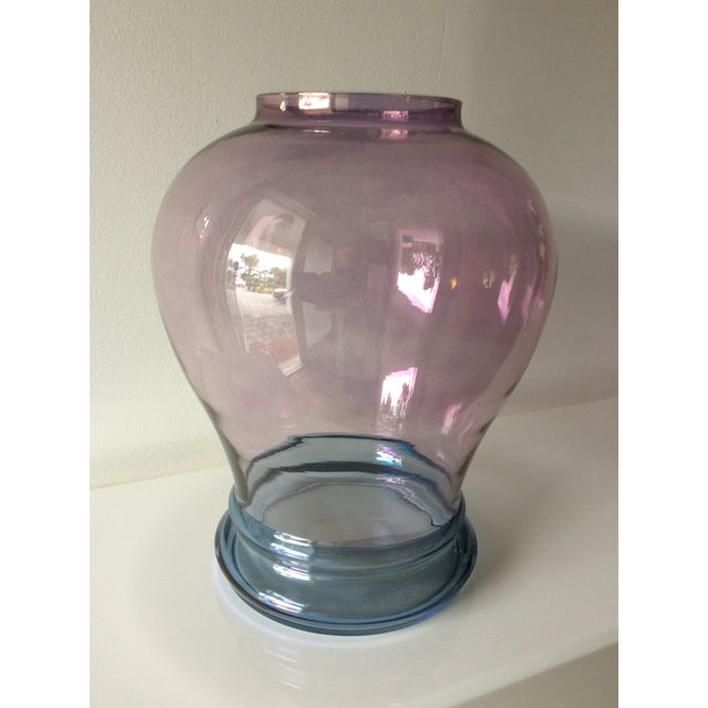 Luminescent Glass Vase For Sale - Image 4 of 12