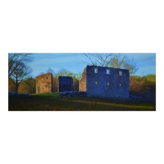 """Stone Barn Ruins"" Large Painting by Stephen Remick"