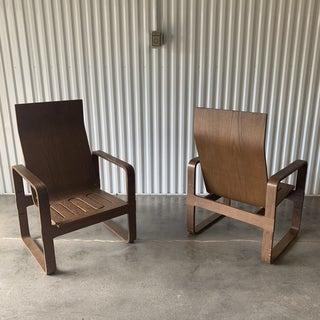 Alvar Aalto Style Bentwood Lounge Chairs- a Pair Preview