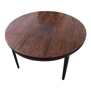 Dyrlund Mid-Century Modern Rosewood Flip Flap Dining Table For Sale