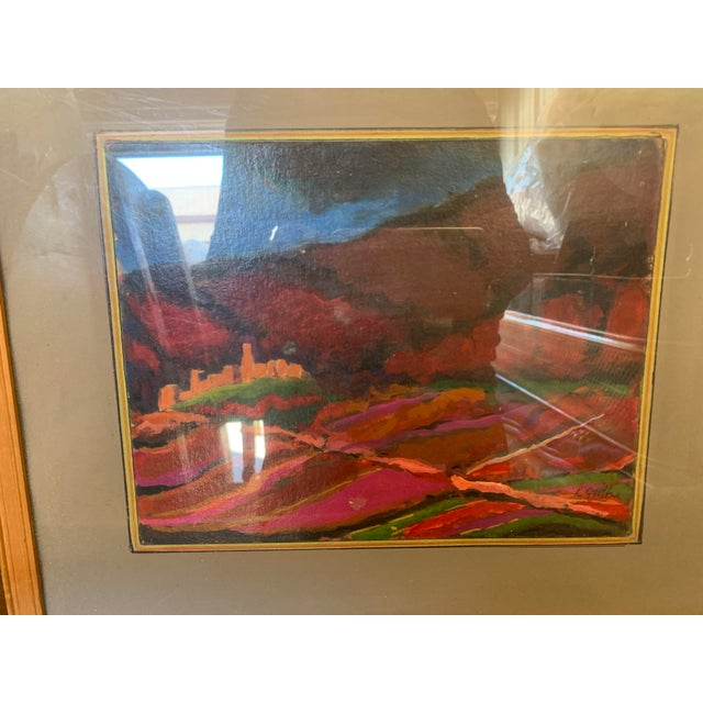 1970s Sailing Impressionist Style and Abstract Framed Paintings - Set of 7 For Sale - Image 10 of 12
