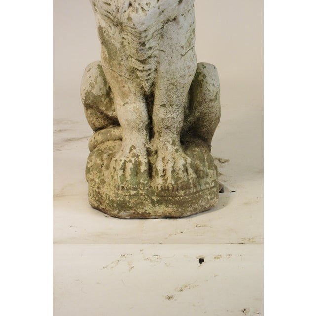 Traditional Pair of 1940s Concrete Lions For Sale - Image 3 of 12