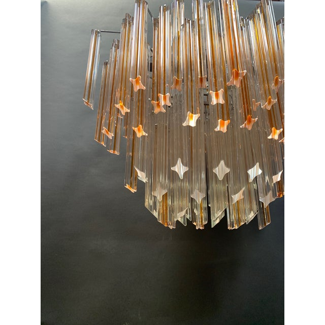 Vintage 1970s Venini Murano Glass Chandelier For Sale - Image 11 of 12