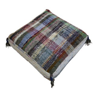 Hand Woven Kilim Floor Cushion Sitting Pillow- 22″ X 22″