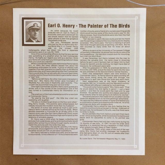 Vintage Earl O Henry Bird Prints - 4 Framed Prints For Sale - Image 10 of 13