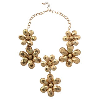 Goldtone Flower Power Necklace For Sale