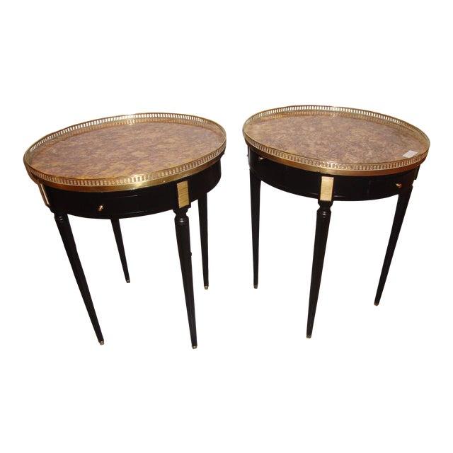 Louis XVI Style Bouillotte End Tables - A Pair For Sale