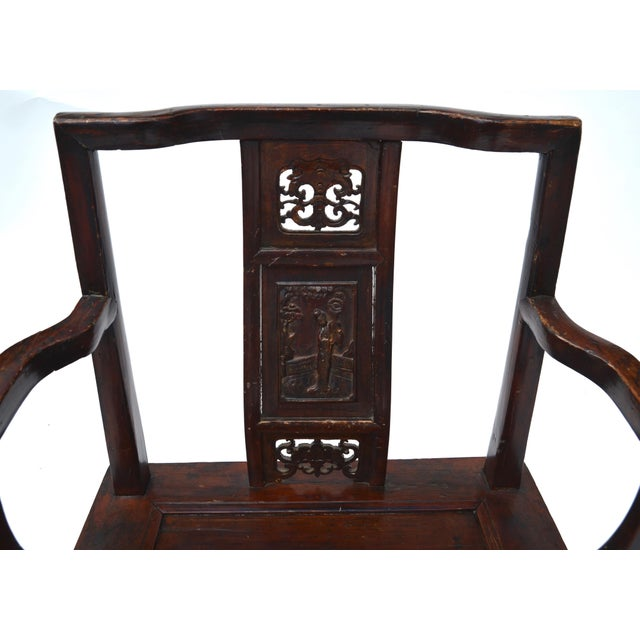 Antique Chinese Wood Carved Chair - Image 6 of 8