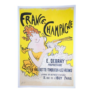 France Champagne Watercolor Poster