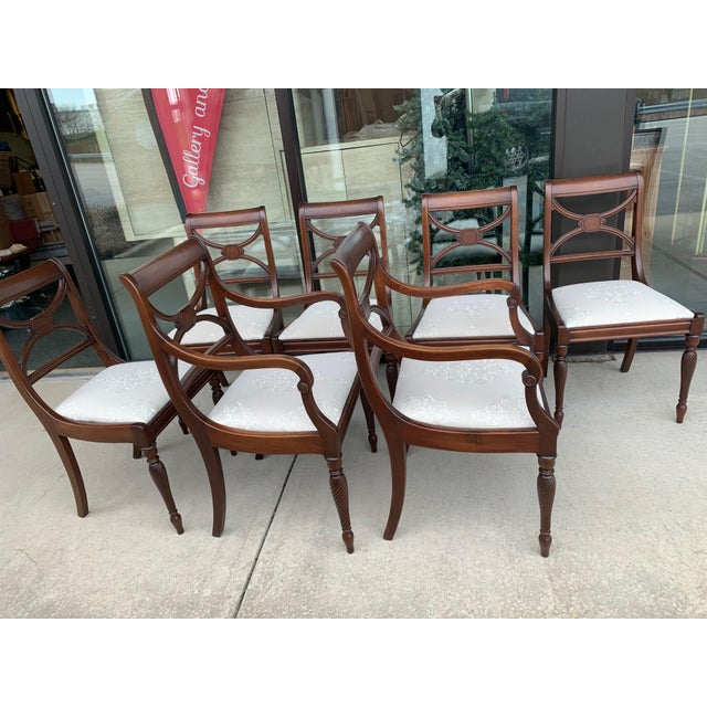 Vintage Berkey and Gay Dining Table and 7 Chairs - 8 Pieces For Sale - Image 10 of 13