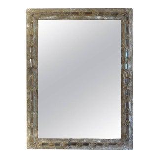 1940's Italian Venetian Glass Rectangular Wall Mirror For Sale