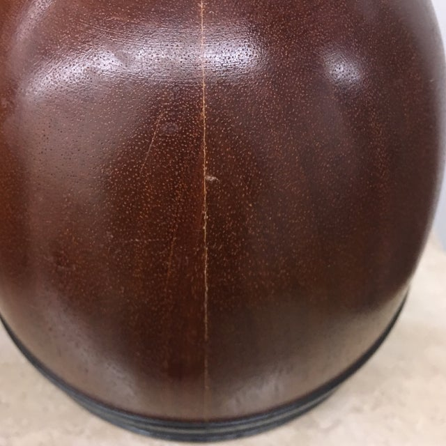 Mid 20th Century Urns - Turned Wooden English Urns - a Pair For Sale - Image 5 of 9