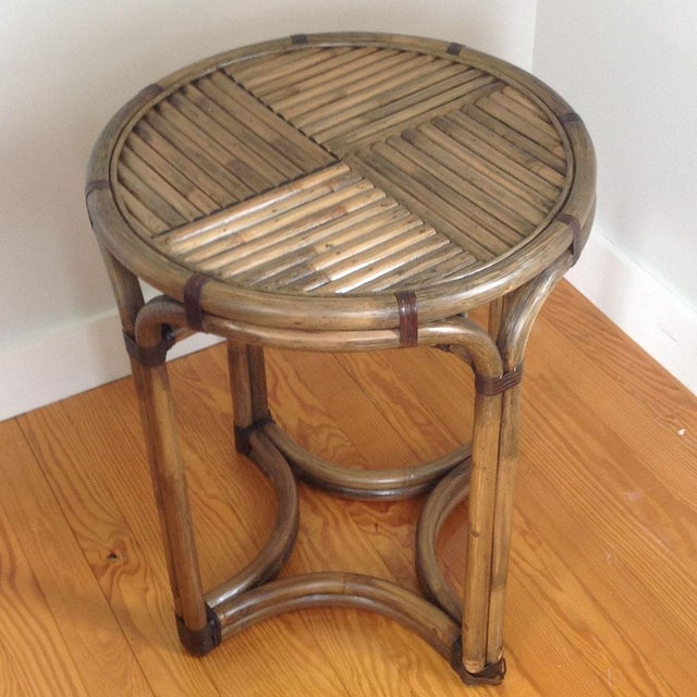 Bentwood & Rattan Side Table - Image 2 of 8