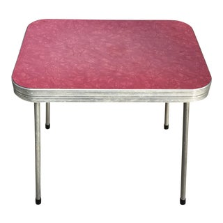 Child's Red Formica Top Kitchen Table