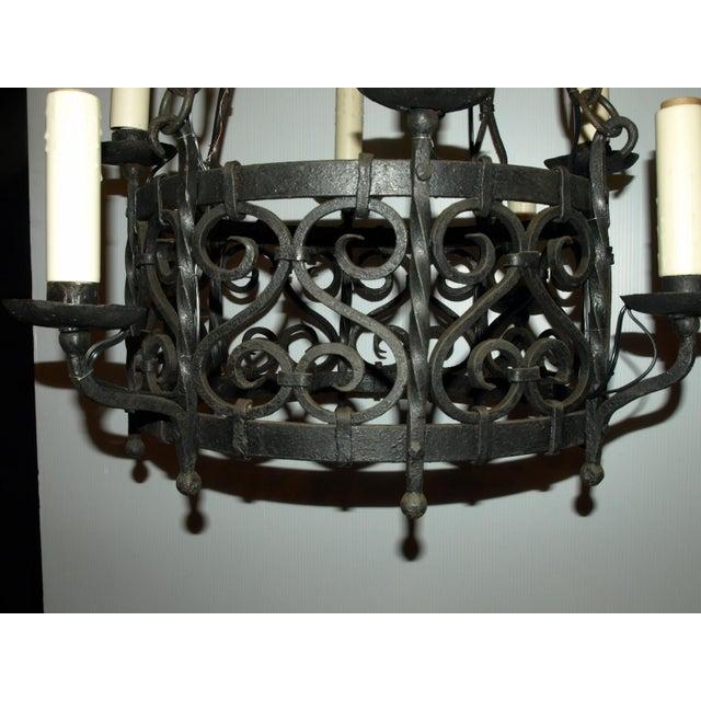 Antique Chandelier. Iron Chandelier - Image 5 of 7