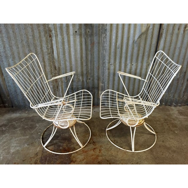 Vintage Homecrest Swivel Chairs - A Pair - Image 5 of 11