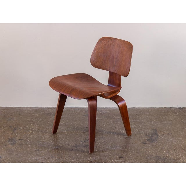 Mid-Century Modern Early Eames Walnut Dcw Chairs for Herman Miller - a Pair For Sale - Image 3 of 12