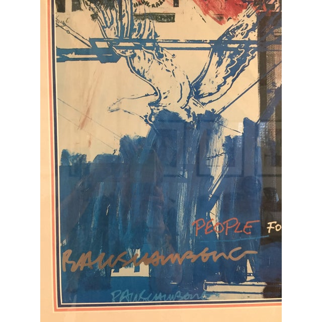 """People for the American Way"" Rauschenberg Signed Print For Sale In West Palm - Image 6 of 11"