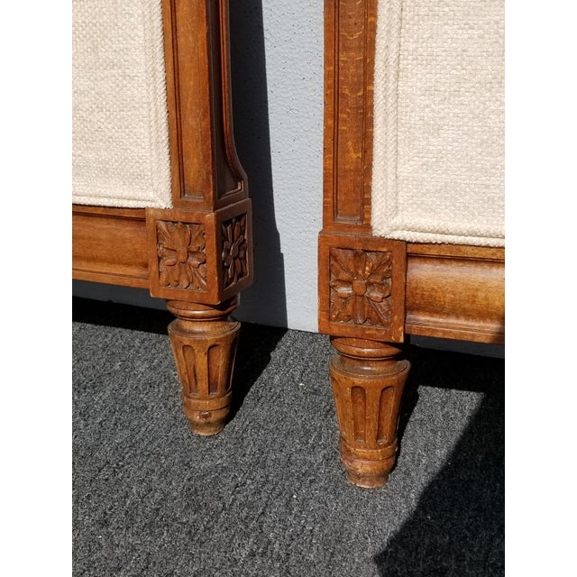 Pair of Vintage French Country Tan Twin Headboards Low Profile For Sale - Image 10 of 13