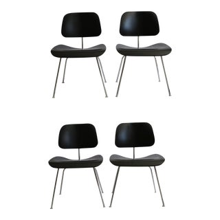 Eames Molded Plywood Dining Chairs with Chrome Legs for Herman Miller c. 2000-Set of 4