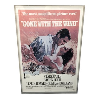 """Vintage """"Gone With the Wind"""" Movie Poster For Sale"""