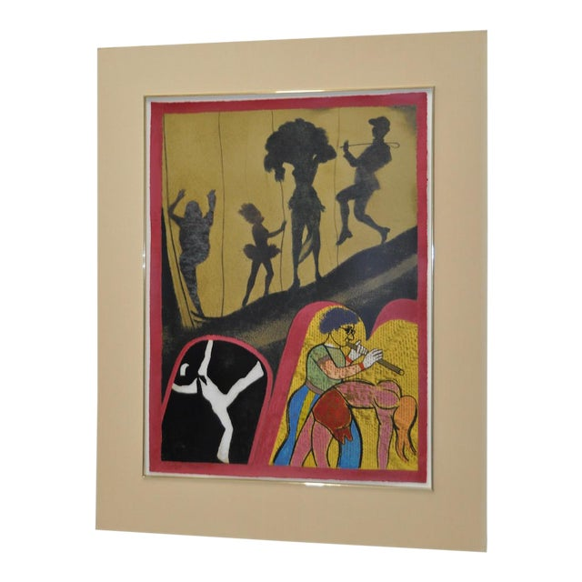 """1983 """"New York Performing Arts Center"""" Pencil Signed Lithograph by R.B. Kitaj For Sale"""