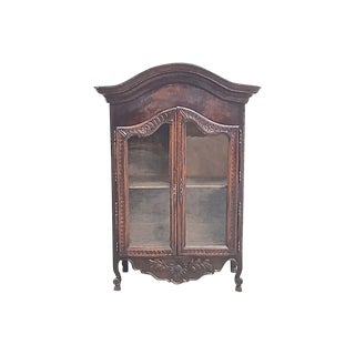 Antique French Hand-Carved Hanging Vitrine For Sale