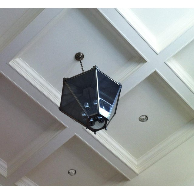Ann Morris Groves Lantern in Oxidized Brushed Nickel Finish For Sale - Image 10 of 13