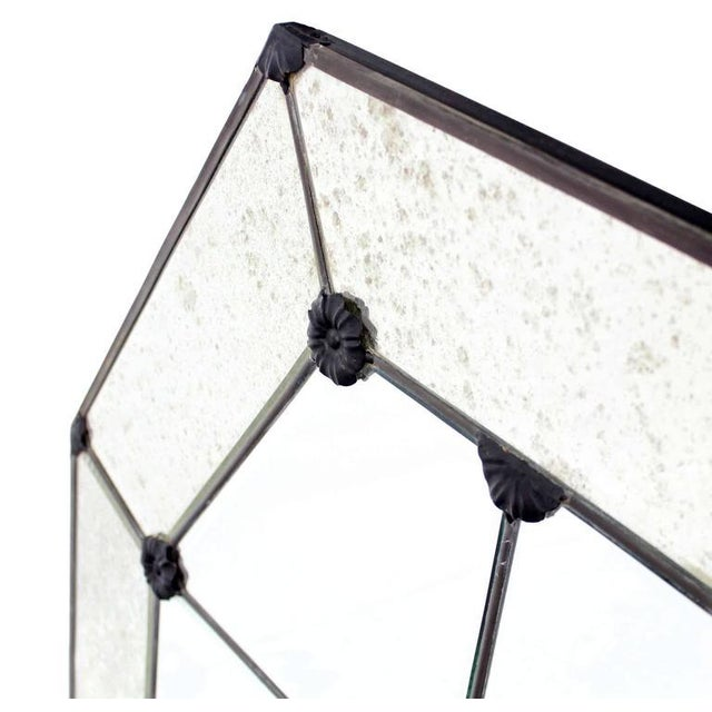 Contemporary Pair of Large Octagon Wall Mirrors For Sale - Image 3 of 8