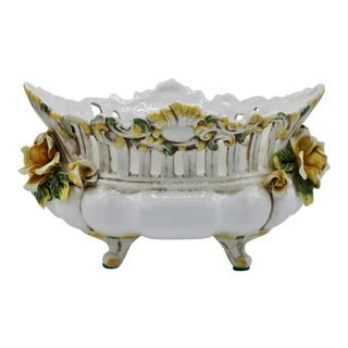 Italian Ceramic Footed Jardiniere For Sale