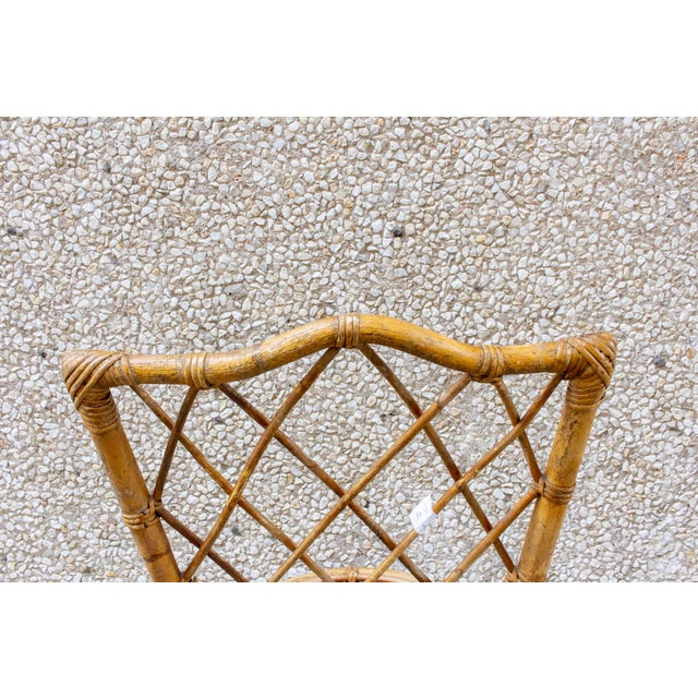 Vintage French Bamboo and Rattan Dining Chairs- Set of 8 For Sale - Image 12 of 13