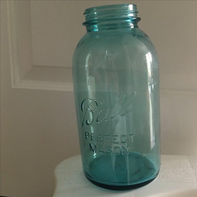 Vintage Blue Glass Ball Mason Jar - Image 4 of 7