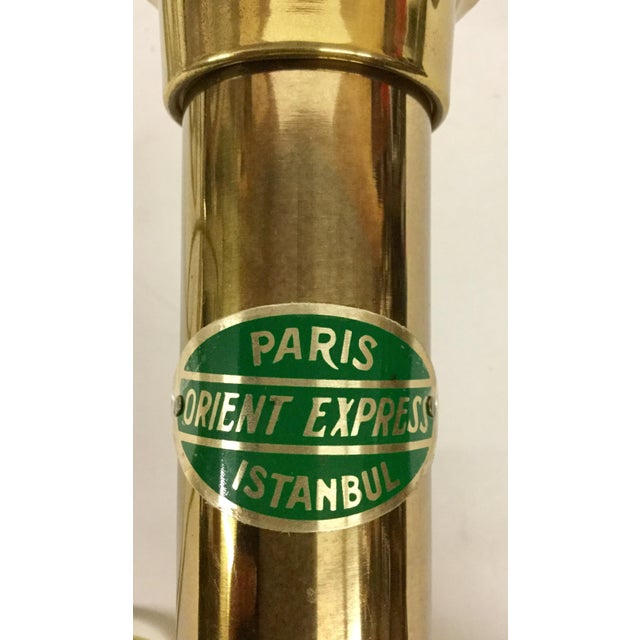 Vintage Paris Oriental Express Brass Table Lamp For Sale - Image 12 of 13