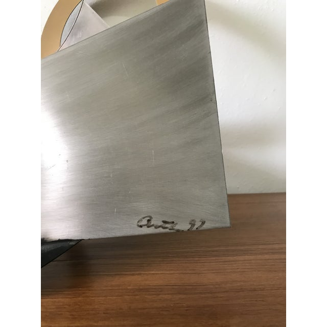 Abstract Post Modern Abstract Mixed Metal Sculpture For Sale - Image 3 of 6