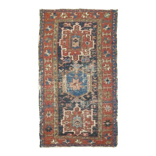 Antique Heriz Rug, 2'6'' X 4'4'' For Sale