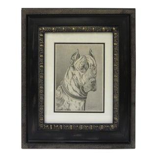 Framed Dog Portrait 3 For Sale