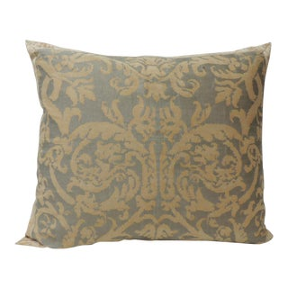 Vintage Fortuny Decorative Pillow Pergolesi Sand and Old Colors For Sale