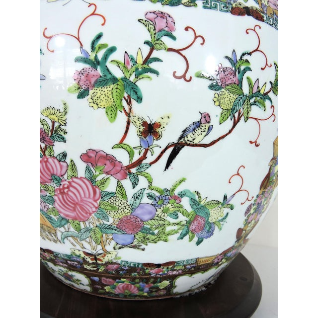 Ceramic 20th Century Chinese Rose Canton Gilt & Lucky Coin Porcelain Planter, Swatow For Sale - Image 7 of 10